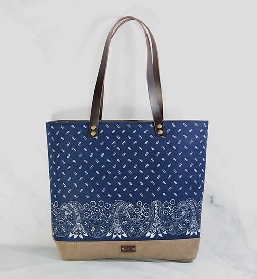 Modrotlačová taška Agáta hnedá 2