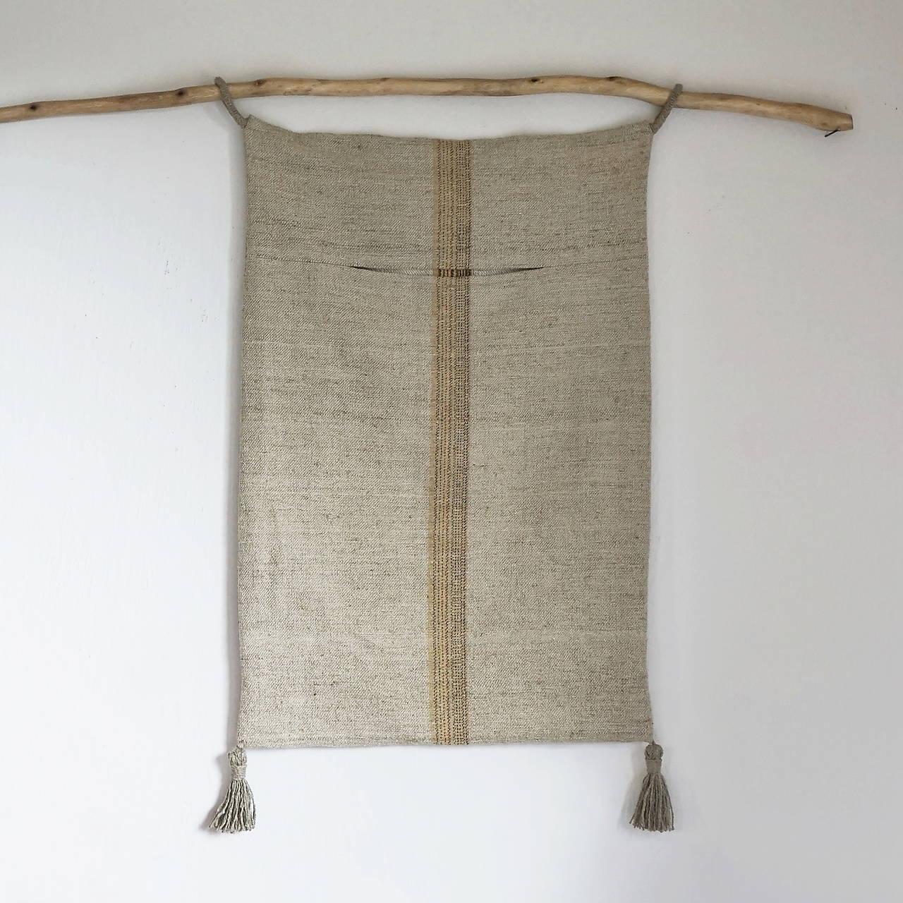 Úžitkový textil - Veľké konopné vrece na prádlo - 12433530_