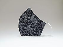Tvarované dvojvrstvové rúško - Tmavé srdiečka