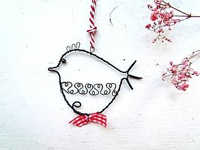 Dekorácie - Vtáčik záhradný - 12432712_