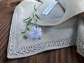 Úžitkový textil - Ľanový obrúsok Pure - 12435659_