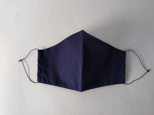 Rúško tvarované námornícka modrá dvojvrstvové