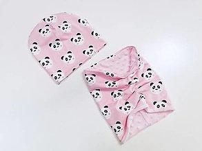 Detské súpravy - Detský set ružová panda - 12437613_