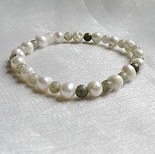 Náramky - Náramok perla a labradorit - 12439183_