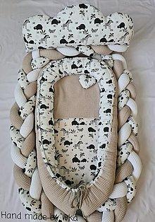 Textil - Hnniezdo  pre bábätko + smotanová  vafla/ zveratká - 12439295_