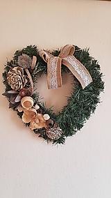 srdce na hrob s dreveným kvetom a sušinou 40 cm