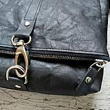 Kabelky - Kabelka DINKY bag - čierna s matným leskom - 12439330_