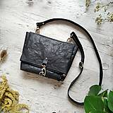 Kabelky - Kabelka DINKY bag - čierna s matným leskom - 12439331_