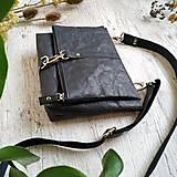 Kabelky - Kabelka DINKY bag - čierna s matným leskom - 12439333_
