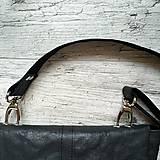 Kabelky - Kabelka DINKY bag - čierna s matným leskom - 12439334_