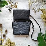 Kabelky - Kabelka DINKY bag - čierna s matným leskom - 12439335_