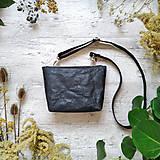 Kabelky - Kabelka DINKY bag - čierna s matným leskom - 12439370_