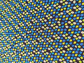 Šály - Nákrčník modro-zelená vitráž - 12437618_