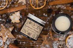 Svietidlá a sviečky - AKCIA - Sviečka zo sójového vosku v hnedom skle - Vianočné Perníčky - 12440333_