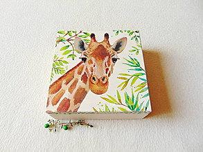 Krabičky - Drevená krabička Žirafa - 12437070_