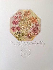 Grafika - Nebeská ružica - 12440370_