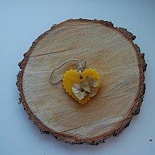 Dekorácie - Vonný vosk v krabičke (srdiečko ruža) - 12438485_