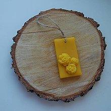 Dekorácie - Vonný vosk v krabičke (obdĺžnik prirodzená vôňa vosku) - 12438516_