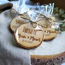 Darčeky pre svadobčanov - Balenie na svadobné magnetky - 12439673_