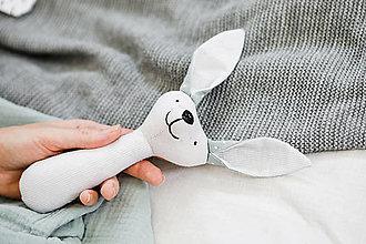 Hračky - Hrkálka zajko - 12437553_