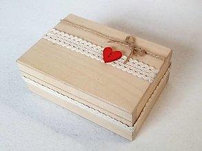 Krabičky - Šperkovnica so srdiečkom ❤️ - 12439166_