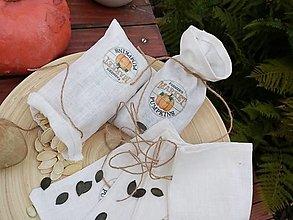 Úžitkový textil - Minivrecká na tekvicové semienka - 12439982_
