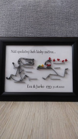 Obrázky - 3D obrázok z papierových prúžkov, pre novomanželov, zamilovaných... (voliteľný text) - 12436878_
