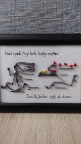 Obrázky - 3D obrázok z papierových prúžkov, pre novomanželov, zamilovaných... (voliteľný text) - 12436880_