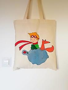 Nákupné tašky - •ručne maľovaná plátená taška - malý princ• - 12436674_