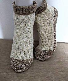Obuv - Krátke melirované ponožky - 12439036_