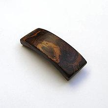 Ozdoby do vlasov - Drevená spona do vlasov - orechová kôra malá - 12438766_