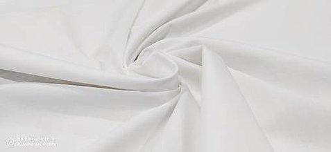 Textil - Bavlnená látka - Antibakteriálna Biela - cena za 10 centimetrov - 12443944_
