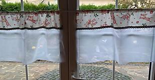 Úžitkový textil - Záclona sobíková vianočná - 12440688_