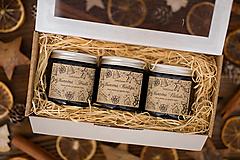 Svietidlá a sviečky - POSLEDNÉ KUSY - Darčeková sada sójových sviečok - Vianočné Prekvapenie - 12440853_