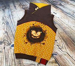 Detské oblečenie - Vesta - ježko - 12443509_