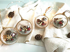 Dekorácie - Vianočné gule 4 ks červené jabĺčka - 12443904_