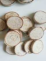 Brezové kolieska prírodou maľované:) (v2 - priemer 3 - 3,5 cm (balenie 10 ks))