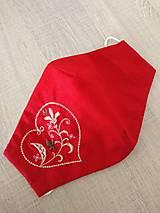 Rúška - Dámske rúško červene LASKA - 12440652_