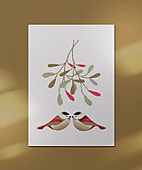 Grafika - Vianočná kartička, láska - 12443114_