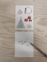 Grafika - Vianočná kartička, strom - 12443150_