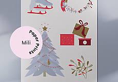 Grafika - Vianočná kartička, Vianočné radosti - 12443248_