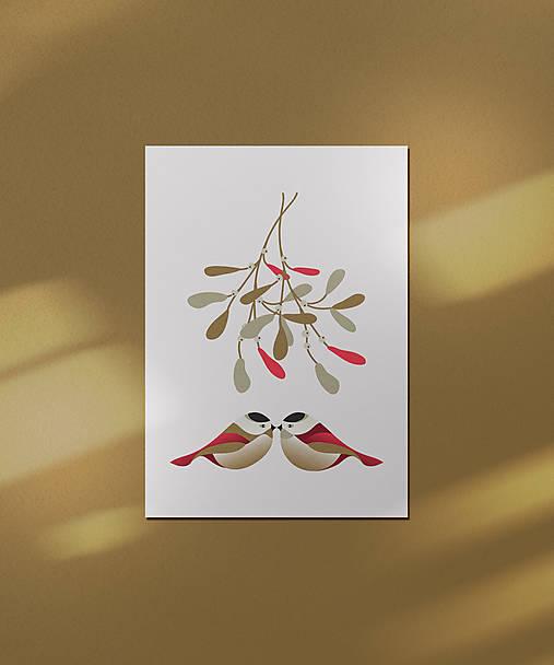 Vianočná kartička, láska