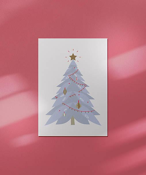 Vianočná kartička, strom