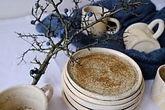 Nádoby - Tanier kolekcia Piesok (Tanier V) - 12441740_