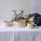 Nádoby - Tanier kolekcia Piesok (Tanier IV) - 12441743_