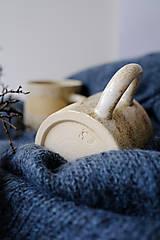 Nádoby - Hrnček kolekcia Piesok (Dúha) - 12441830_
