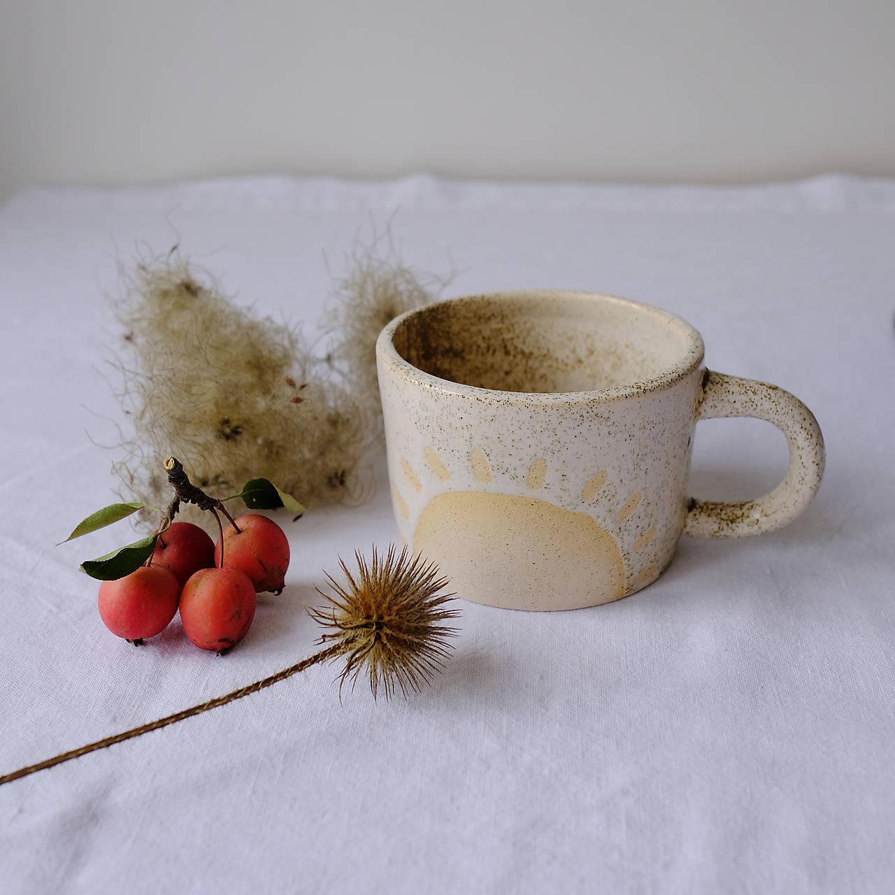 Nádoby - Hrnček kolekcia Piesok (Slnko) - 12441846_