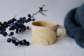 Nádoby - Hrnček kolekcia Piesok (Dúha) - 12441825_