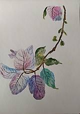 Kresby - fialkové jemnôstky - 12441211_