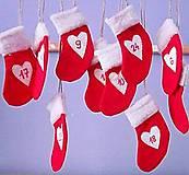Dekorácie - mikulášske ponožky - adventný kalendár - 12441588_